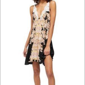 Free People Black Slip Mini Dress Size XL